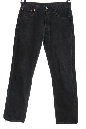 Levi's Straight-Leg Jeans schwarz Streifenmuster Casual-Look