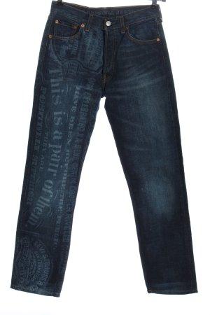 Levi's Straight-Leg Jeans blau Schriftzug gedruckt Casual-Look