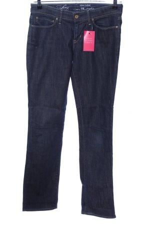 Levi's Straight-Leg Jeans blau meliert Casual-Look