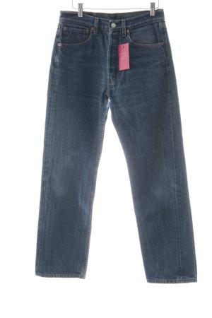 Levi's Straight-Leg Jeans blau Logo-Applikation