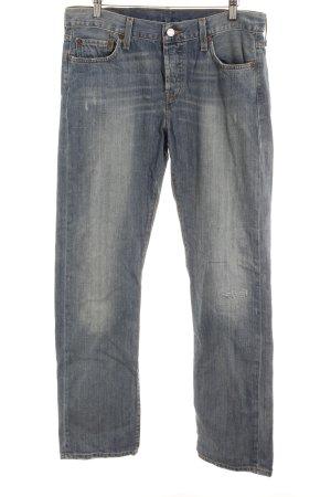 Levi's Straight-Leg Jeans kornblumenblau-himmelblau meliert Casual-Look
