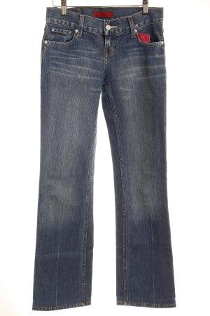 Levi's Straight-Leg Jeans stahlblau Washed-Optik