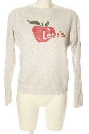 Levi's Felpa grigio chiaro-rosso Stampa a tema stile casual