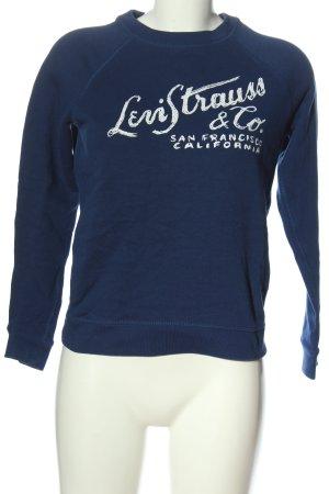Levi's Sweatshirt blau-weiß Motivdruck Casual-Look