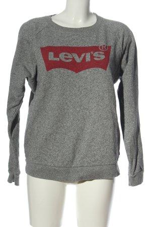 Levi's Sweat Shirt light grey flecked casual look