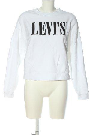 Levi's Felpa bianco-nero caratteri stampati stile casual