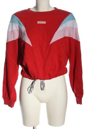 Levi's Suéter rojo-rosa letras impresas look casual