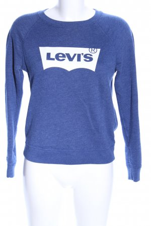 Levi's Sweat Shirt blue flecked casual look