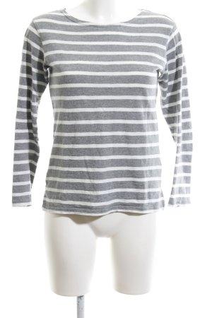 Levi's Sweatshirt hellgrau-weiß Streifenmuster Casual-Look