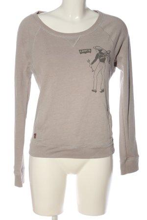 Levi's Sweatshirt blanc cassé imprimé avec thème style décontracté
