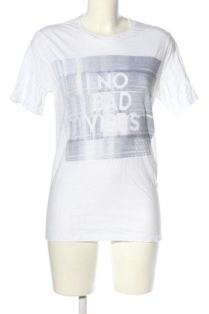 Levi's T-Shirt weiß-hellgrau Schriftzug gedruckt Casual-Look