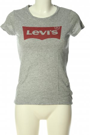 Levi's T-Shirt hellgrau meliert Casual-Look