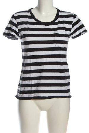 Levi's T-Shirt weiß-schwarz Streifenmuster Casual-Look