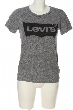 Levi's T-shirt gris clair-noir moucheté style décontracté