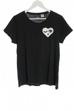Levi's T-shirt nero Stampa a tema stile casual