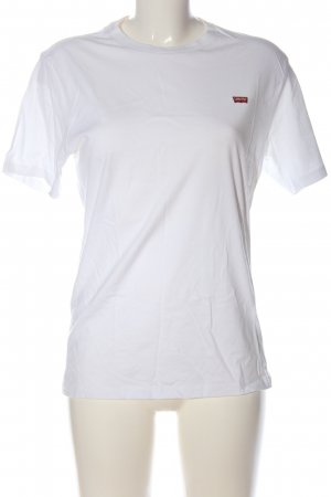 Levi's T-Shirt white-red embroidered lettering casual look