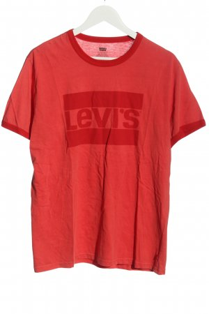 Levi's T-shirt rosso Stampa a tema stile casual