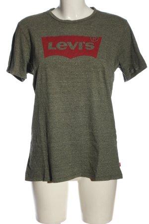 Levi's T-Shirt khaki-rot Schriftzug gedruckt Casual-Look