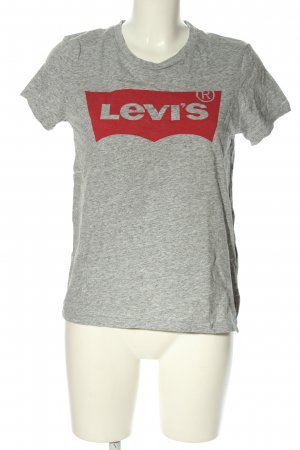 Levi's T-Shirt hellgrau-rot meliert Casual-Look