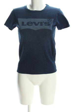 Levi's T-Shirt blau Schriftzug gedruckt Casual-Look