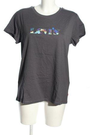 Levi's T-Shirt hellgrau Schriftzug gedruckt Casual-Look