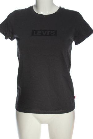 Levi's T-shirt gris clair lettrage imprimé style décontracté