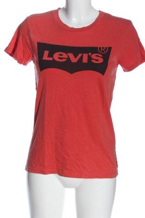 Levi's T-Shirt rot-schwarz Schriftzug gedruckt Casual-Look