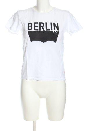 Levi's T-Shirt weiß-schwarz Schriftzug gedruckt Casual-Look