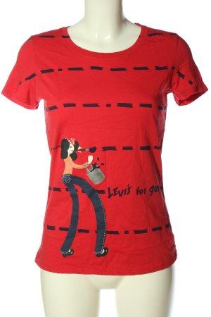 Levi's T-Shirt rot Motivdruck Casual-Look