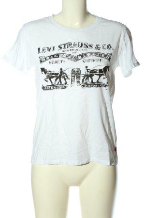 Levi's T-Shirt weiß Motivdruck Casual-Look