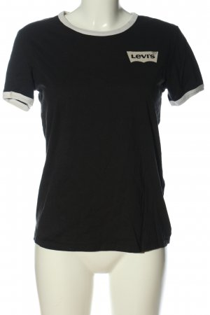 Levi's T-Shirt schwarz Schriftzug gedruckt Casual-Look