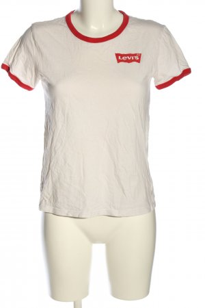 Levi's T-Shirt weiß-rot Casual-Look
