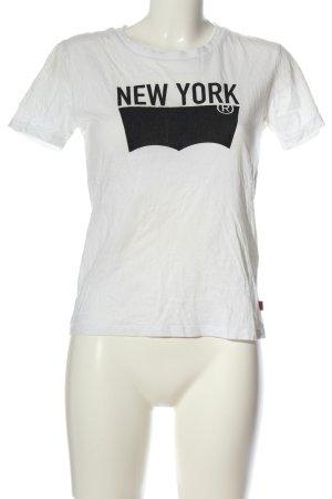 Levi's Camiseta blanco-negro letras impresas look casual