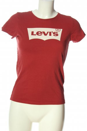 Levi's T-Shirt rot Motivdruck Casual-Look