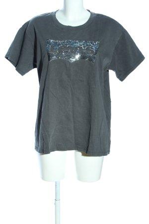 Levi's T-Shirt khaki-silberfarben Schriftzug gedruckt Casual-Look