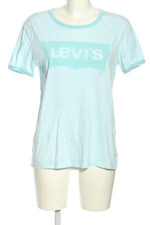Levi's T-Shirt türkis Schriftzug gedruckt Casual-Look