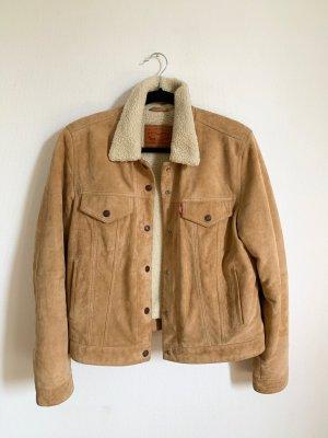 Levi's The Suede Sherpa Trucker Lederjacke leather jacket Levis Lammfell