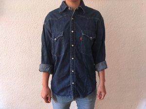 Levi's Spijkershirt donkerblauw