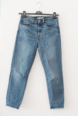 Levi's Hoge taille jeans staalblauw-blauw Katoen