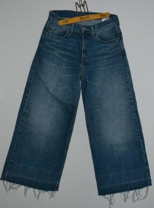 Levi's Jeansowe spodnie dzwony ciemnoniebieski Bawełna