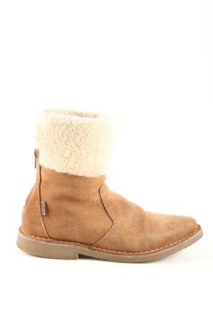 Levi's Winter-Stiefeletten braun-wollweiß Casual-Look
