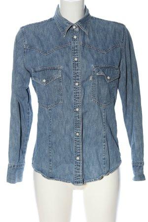 levi strauss & go Chemise en jean bleu style décontracté