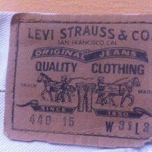 Levis 440, W31/L34 NEUwertig cremeweiss, Topqualität, geknöpft