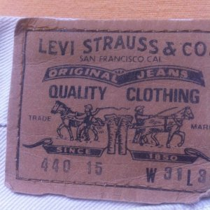 Levis 440, W31/L34 #unisex, cremeweiss, Topqualität, geknöpft