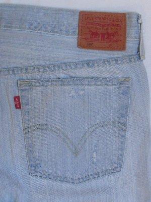 LEVIS 501 Boyfriend Jeans aus Mexico.. blue used/ripped.. Größe W30/L32