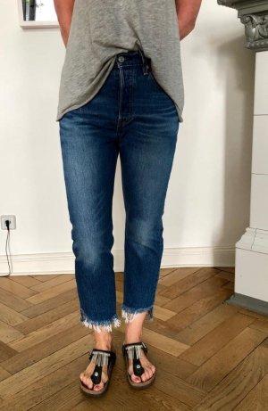 """Levis 501 Crop Jeans """"chill out"""" blue   W 25 L 26"""
