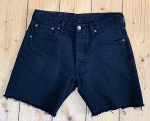 Levis 501 Jeans Shorts schwarz Vintage W30 1990er Größe M