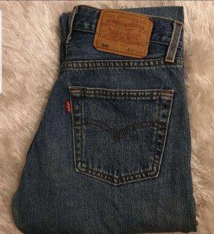 Levis Pantalon taille haute bleu
