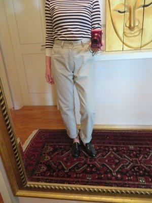 Levis 501 Mom Jeans - Größe L - Karotte Nude Beige geknöpft High Waist Faded - Vintage