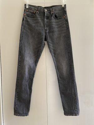 LEVIS 501 Skinny Slim Levi's Jeans skinny fit grau schwarz 28x32